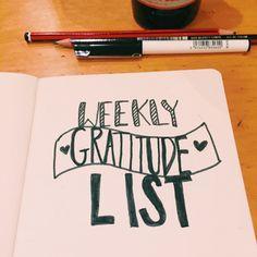 weekly gratitude list xx