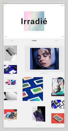 Creative Websites, Love, Irradie, Creative, and Direction image ideas & inspiration on Designspiration Website Design Inspiration, Creative Inspiration, Blog Design, Design Ideas, Portfolio Design, Web Portfolio, Presentation Layout, Shops, Design Graphique