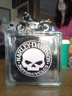 Harley Davidson Glass Block