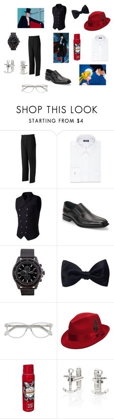 """Tuxedo mask style"" by nishalarbaiza ❤ liked on Polyvore featuring Vision, Grand Slam, Izod, Joseph Abboud, Geneva, Ike Behar, EyeBuyDirect.com, Stacy Adams, Old Spice and Chloe + Isabel"