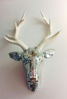 Mirrorball Stag head Wallart by Doh! A Deer.