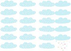 Etiquettes nuages à imprimer (diy)