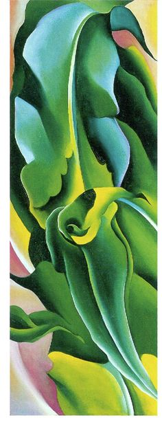 Georgia O'Keeffe, Corn No. 2, 1924, Oil on Canvas, 27 1/4 x 10 inches, Gift of the Burnett Foundation and the Georgia O'Keeffe Foundation, ©Georgia O'Keeffe Museum