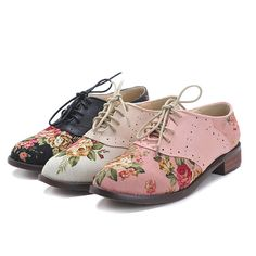 Impressão Floral Sapatos Oxford para As Mulheres 2016 Vintage Lace Up cortiça Únicas Mulheres Apartamentos Primavera Outono Brogues couro denim Mulheres sapatos em Apartamentos das mulheres de Sapatos no AliExpress.com | Alibaba Group