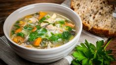 Chicken Soup by Elena Elisseeva - Frikassee Vegetable Soup Recipes, Chicken Soup Recipes, Vegetable Stock, Turkish Recipes, Ethnic Recipes, Crock Pot Soup, Healthy Soup, Stuffed Peppers, Recipes