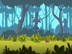 Art & Animation by Max Ivlev, via Behance 2d Game Background, Forest Background, Background Drawing, Cartoon Background, Animation Background, Bg Design, Game Design, 2d Game Art, Film D'animation