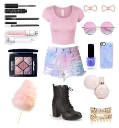 """""""Cotton candy collab"""" by crystalgems125 ❤ liked on Polyvore featuring NARS Cosmetics, Soda, Christian Dior, Casetify, Ted Baker and River Island"""