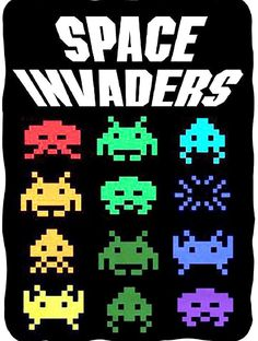 """Collectable Blankets! Space Invaders Logo Fleece Throw Blanket 45""""x60"""""""