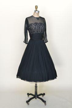 Black dress 1950s variety