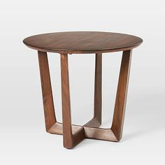 Inspired by the clean lines of Scandinavian design, our solid mango wood Stowe Side Table has a simple sculptural base for high style at a great price. Rustic Side Table, White Side Tables, Modern Side Table, Round Side Table, End Tables, West Elm Side Table, Coffee Tables, Small Furniture, Living Furniture