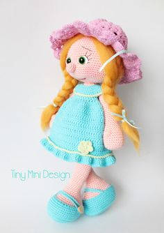 Amigurumi Mavi Elbiseli Bebek-Amigurumi Blue Drees Doll | Tiny Mini Design ☆