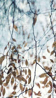 Encaustic Leaves Painting