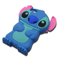 DE Cute 3D Cartoon Animal Series Apple iPhone 5C Case New Blue/Pink 3D Cartoon Stitch Movable Ear Shape Style Soft Silicone Rubber Case Protective Cover for Apple iPhone 5C:Amazon:Cell Phones & Accessories