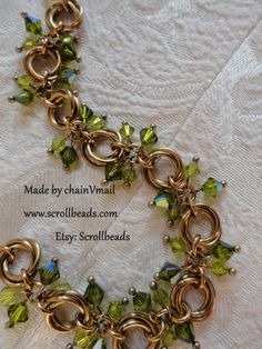 Extremely exclusive bronze Crystal Flowers bracelet by Scrollbeads, €38.95