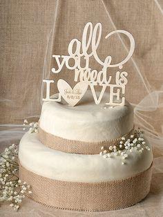 Rustic Cake Topper Wood Cake Topper All you door forlovepolkadots