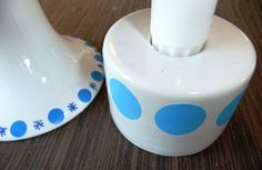 vaser med stickers