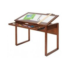 Wood Drafting Table Portable Architect Station Drawing Board Desk Artist Glass