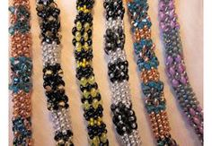 by Linda Gettings Beaded Bracelet Patterns, Beading Patterns, Beaded Jewelry, Beaded Bracelets, Beaded Necklace, Beading Techniques, Beading Tutorials, Making Bracelets With Beads, Jewelry Making