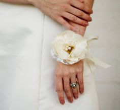 Flower Wrist Corsage Vintage Style Wedding by AutumnandGraceBridal, $28.00... Ok love this idea for mother of the bride and groom, grandmothers, aunts etc... Pretty