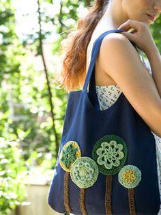 Crochet tree tote bag, FREE, love this idea, thanks so xox