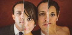 creative vertical portraits of bride and groom