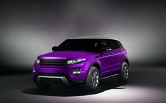 Purple Range Rover Evoque 2013 HD Widescreen Wallpapers Car