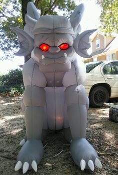 7' Tall Lighted Gargoyle Halloween Airblown Inflatable Lighted Red Eyes Gemmy | eBay