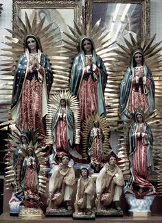 Virgen de Guadalupe, Mexico City.  Authentic religious folk art from Mexico at http://www.lafuente.com/Mexican-Art/Religious-Folk-Art/