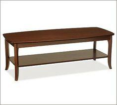 $299 Chloe Coffee Table, Mahogany stain - traditional - coffee tables - Pottery Barn