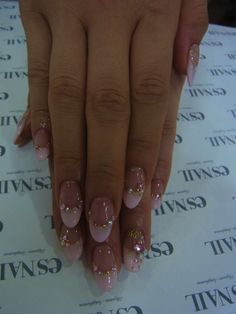 Girly pink nail, love the shape!