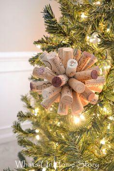 DIY cork ball ornament