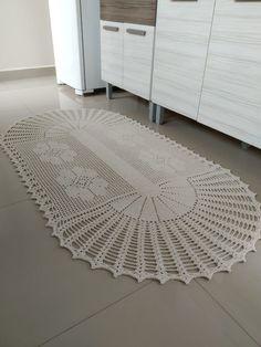 Crochet Mat, Crochet Carpet, Crochet Doilies, Free Doily Patterns, Crochet Rug Patterns, Crochet Sunflower, Projects To Try, Kids Rugs, Home Decor