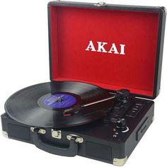 Cadoul perfect pentru nostalgici! Cumpara un Pick-up Akai ATT-E10 Black la doar 254,99 lei sa va bucurati de muzica precum in vremurile de altadata Home Cinemas, Lei, Ac Dc, Pick Up, Nostalgia, Appliances, Audio, Black, Gadgets