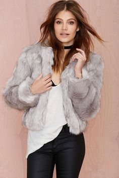 nasty gal. glamorous that's no fur faux jacket. #fashion