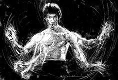 Bruce Lee par Bill Sienkiewicz