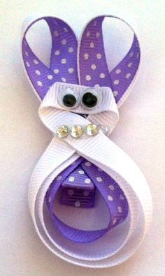 Girls/Baby/Toddler Easter Bunny Hair Clip by MissLittleBowtique, $5.50