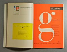 "The Bodoni lowercase ""g"" might just be my favorite letterform ever."