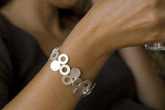 Punto und Circulo; Armband Silber