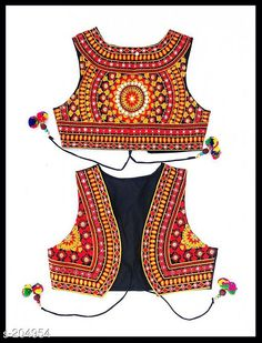 Ethnic Jackets & Shrugs Fancy Cotton Kutchi Work Jacket  *Fabric* Cotton   *Sleeves* Sleeves Are Not Included   *Size* S - 36 in, M - 38 in, L - 40 in, XL - 42 in   *Length* Up To 16 in To 18 in            *Type* Stitched   *Description* It Has 1 Piece Of Jacket   *Work* Kutchi Work  *Sizes Available* S, M, L *   Catalog Rating: ★4.4 (225)  Catalog Name: Kutchian Fancy Jackets Vol 17 CatalogID_20803 C74-SC1008 Code: 593-204954-