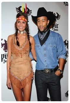 Couple costume: Cowboy and Indian Christine Tiegen and John Legend