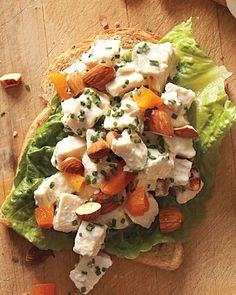 Chicken Salad with Apricots and Almonds Sandwich | Whole Living