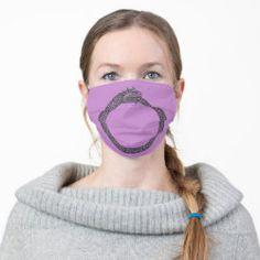 Cloth Face Mask OUROBOROS black on lavender Christen, Shape Of You, Clothing Patterns, Blush Pink, Lilac, Pastel Purple, Purple Gold, Pastel Colors, Snug Fit