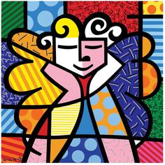 romero britto...perfect for black glue lesson!