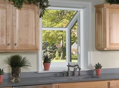 ProVia's energy-efficient Aspect vinyl windows come in a number of styles, including garden windows. Casement Windows, Windows And Doors, Vinyl Windows, Window Company, Garden Windows, Amish Country, Window Styles, Sliders, Home Kitchens