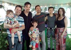 Tom, RDJ, and Benedict Cumberbatch on the set of Avengers Infinity War