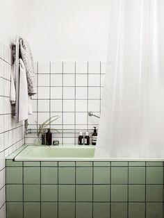 love this unique tile color combo