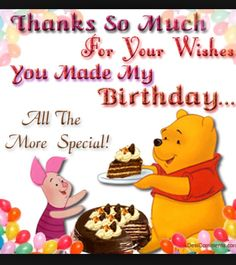 Thank you for my birthday wishes thank you every one for your thanks m4hsunfo