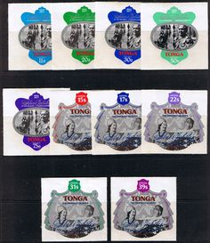 1977 Tongaa Royal Silver Jubilee Set Fine Mint SG 598 607 Scott 392 6 C209 13 Other Commonwealth stamps here