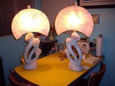 Vintage lamps - love the shape of the shades!