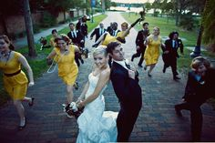I want a picture of my wedding party similar to this that shows of all their personalities WEDDING PHOTOGRAPHY